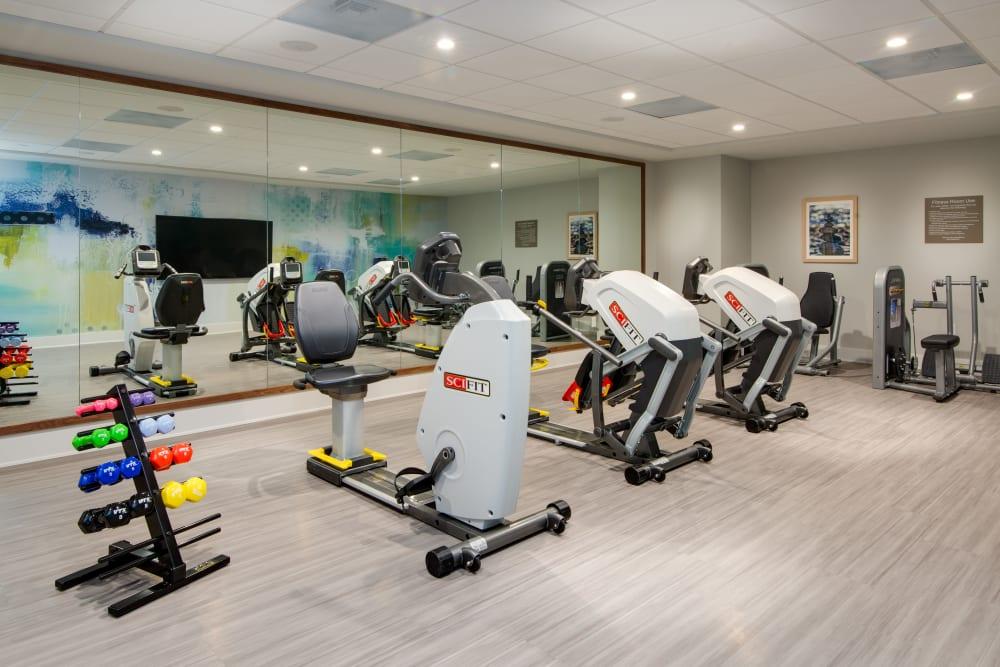 Modern fitness center at Sage Glendale in Glendale, California