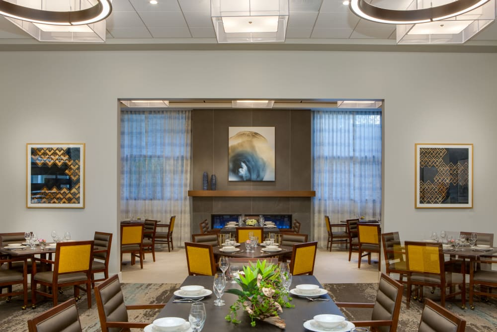 Exquisite dining room at Sage Glendale in Glendale, California