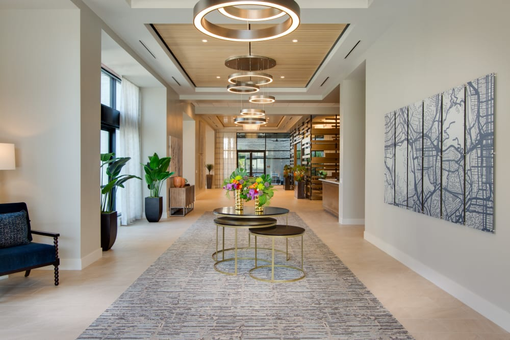 Welcome area and reception at Sage Glendale in Glendale, California