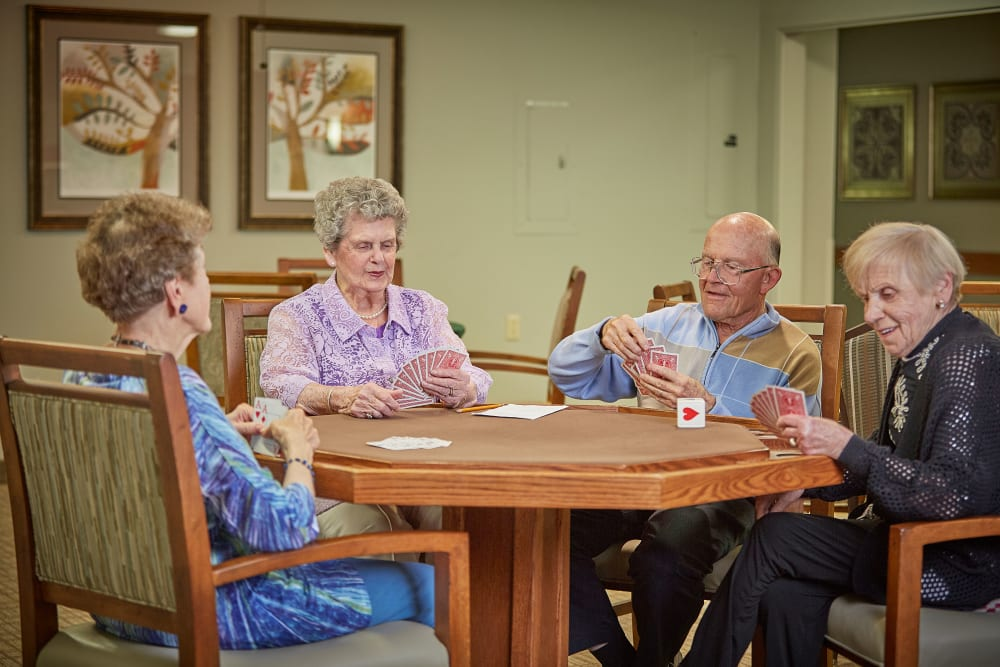 Residents hanging out and playing games in Florence, Oregon