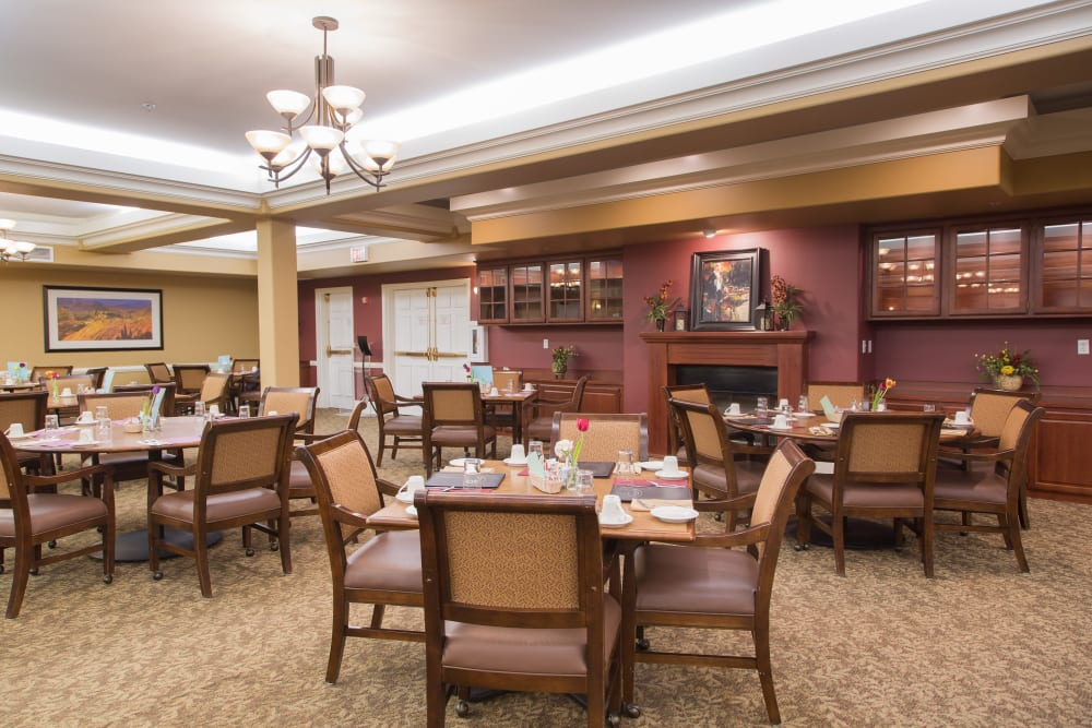 Dining room at Touchmark on South Hill in Spokane, Washington