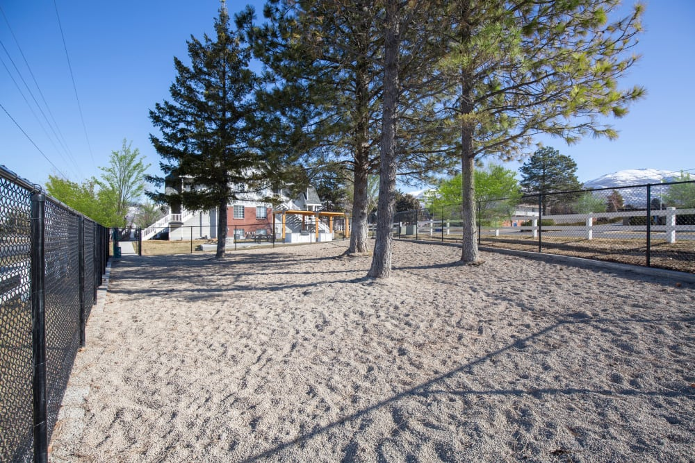 Have fun with your furry friend in the dog park at Windgate Apartments in Bountiful, Utah