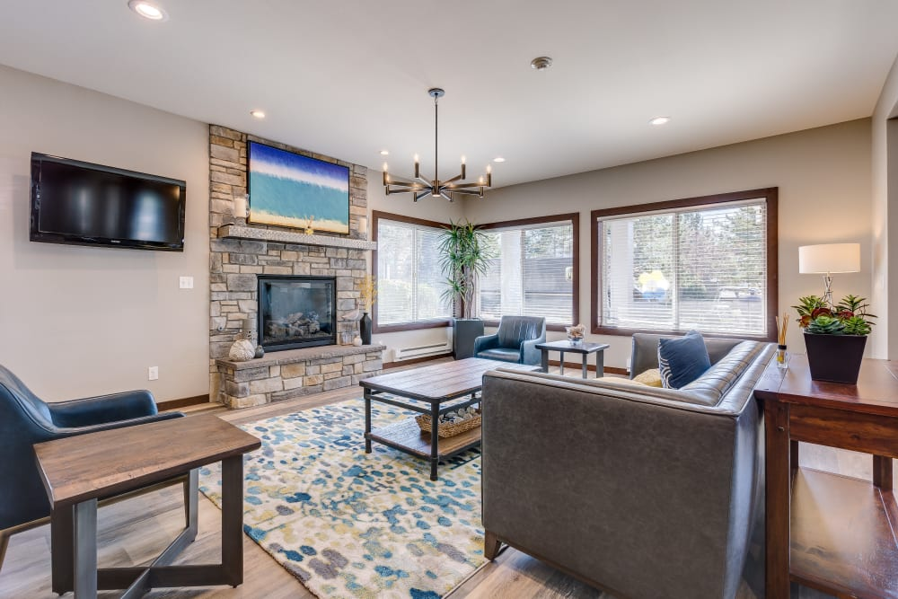 Community common area for resident use at Cascade Ridge in Silverdale, Washington