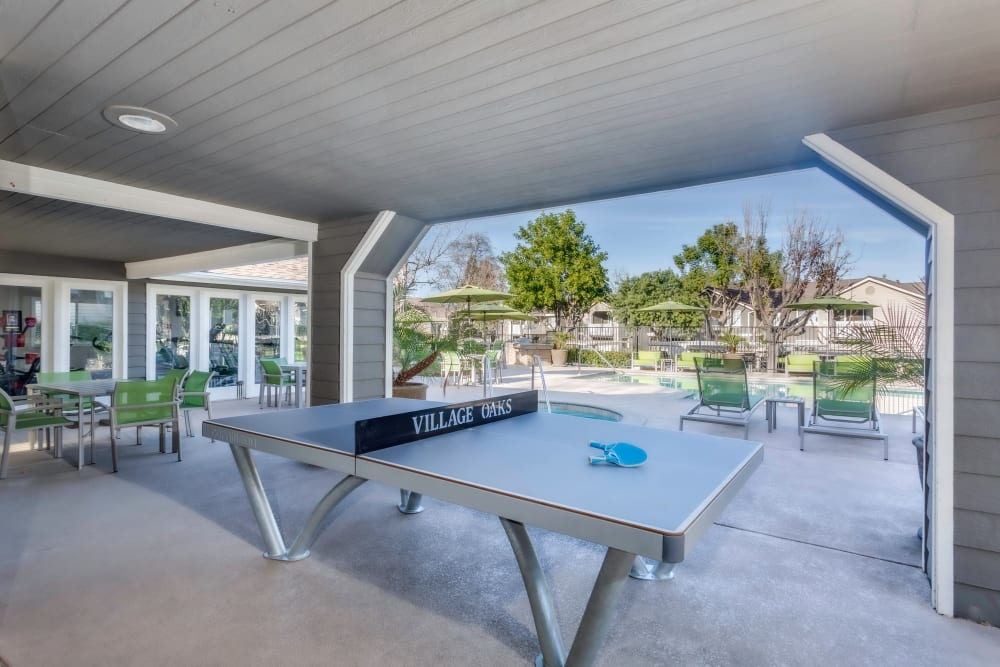 Ping Pong Table Poolside at Village Oaks in Chino Hills, California