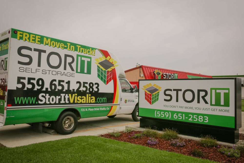 Moving truck for customers of self storage in Visalia