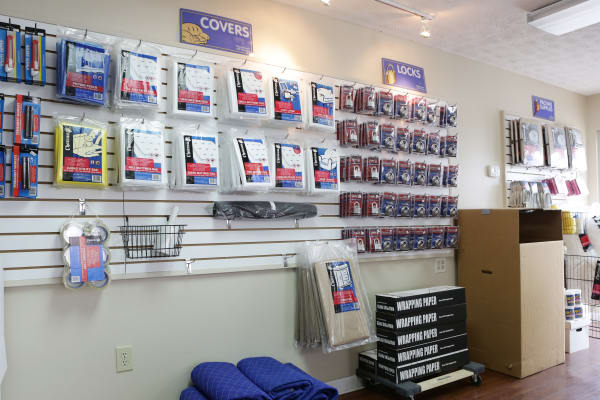 Covers and locks for sale at StoreSmart Self-Storage in Fayetteville, Georgia