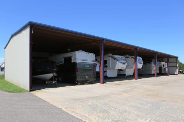 RV storage at Midgard Self Storage in Oakland, Tennessee