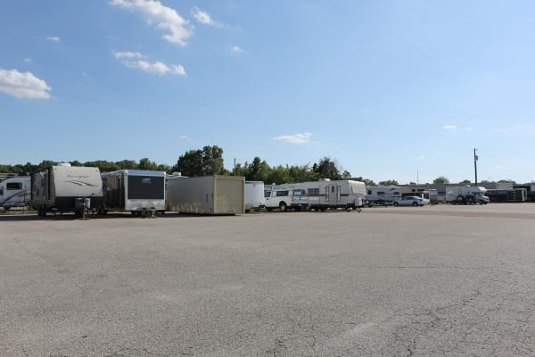 RV storage at Midgard Self Storage in Jackson, Tennessee