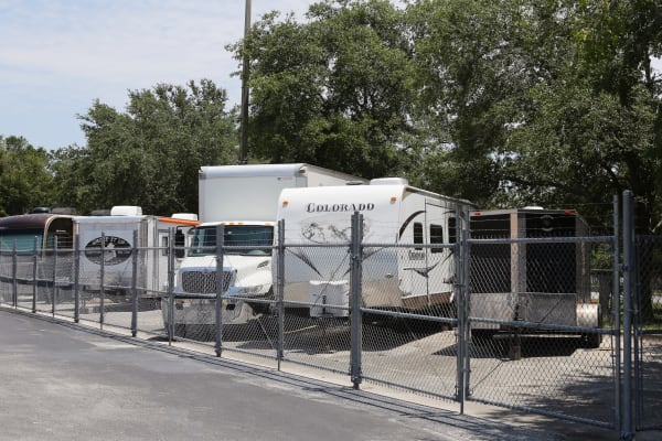 RV storage at Midgard Self Storage in Jacksonville, Florida