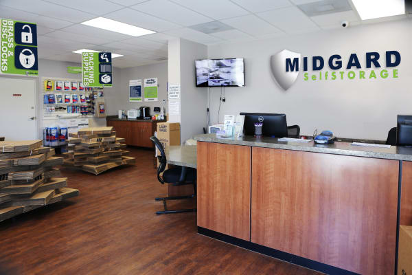 Office at Midgard Self Storage in Melbourne, Florida