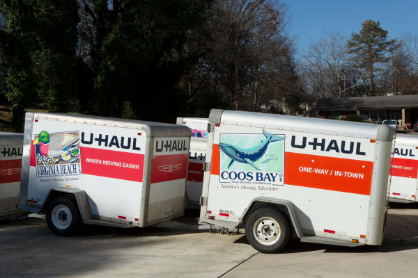 One of our moving trucks at Midgard Self Storage in Florence, Alabama