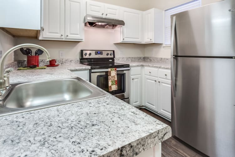 Luxury kitchen at Harrison Grande apartments