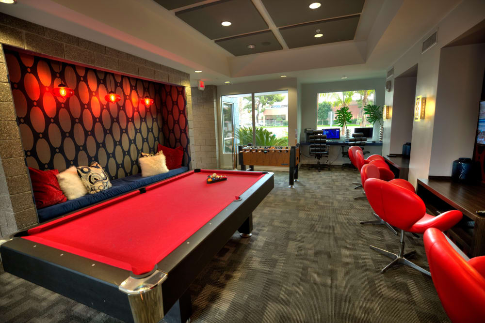 Pool table at Avenue 25 Apartments