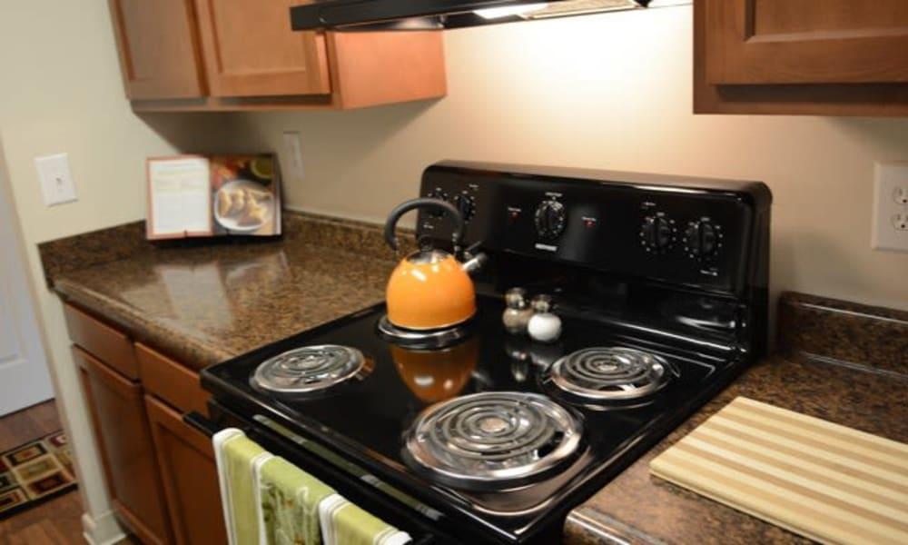 Kitchen at Lakeside Landing Apartments in Lakeside Park, Kentucky
