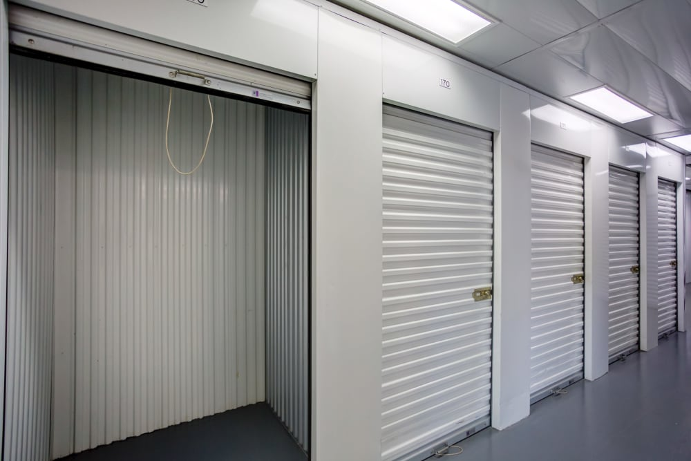 Open indoor unit at Metro Self Storage in Tampa, Florida
