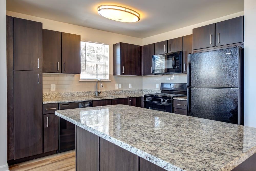 Beautiful kitchen at apartments in Canton, Massachusetts