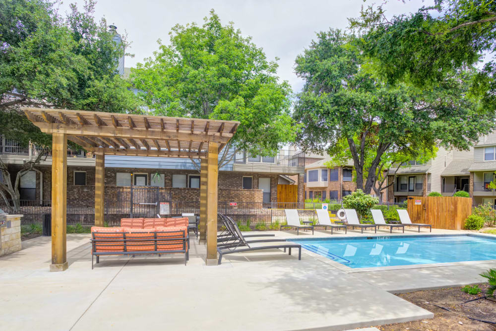 Back side view at Enclave at Water's Edge Apartments in Austin, Texas
