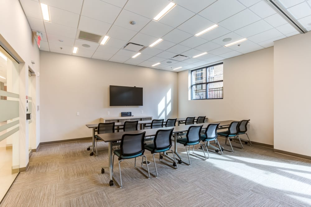 Conference room chairs at Main Street Apartments in Rockville, Maryland