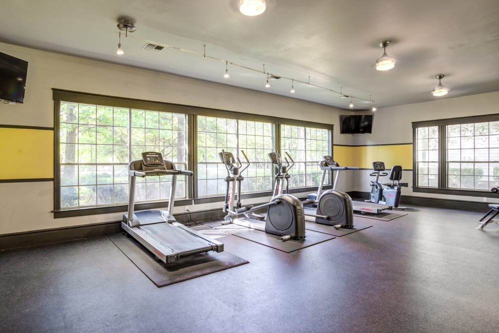 State of the art fitness center at Parc @ Champion Forest in Houston, Texas