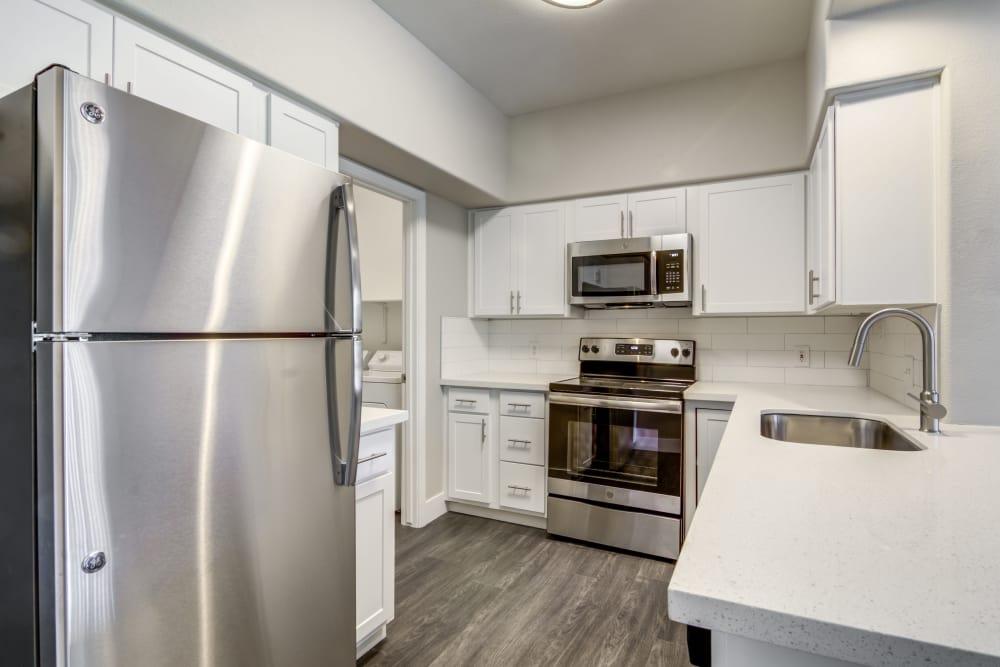 Kitchen at apartments in Chandler, Arizona