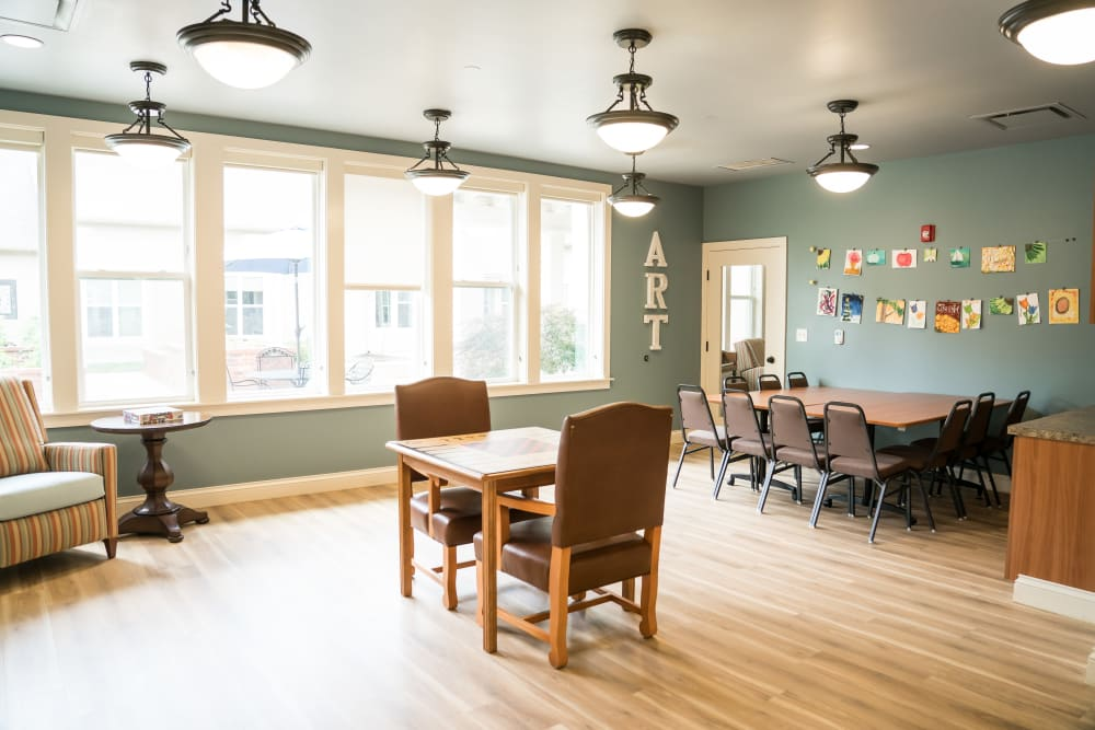 Dining area at Avenir Memory Care at Little Rock in Little Rock, Arkansas
