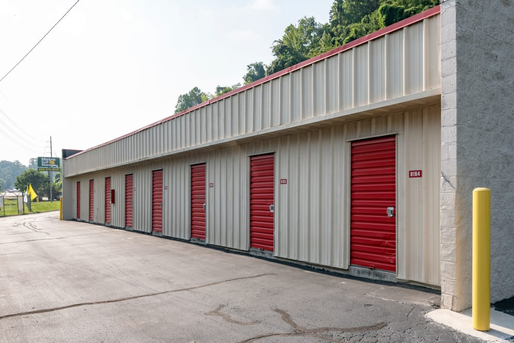 Exterior access storage units at Metro Self Storage in Knoxville