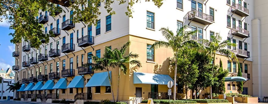 Exterior view of The Exchange Lofts in Fort Lauderdale, Florida