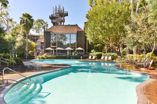 Swimming pool at Mariners Village in Marina del Rey, California
