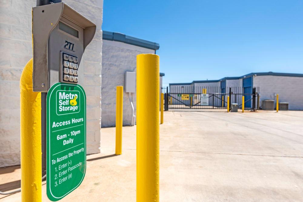 Keypad access at Metro Self Storage in Lubbock, Texas