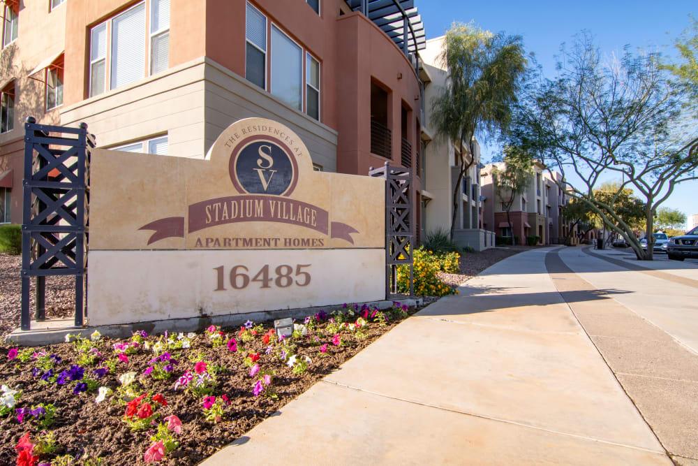 Apartments sign in Surprise, Arizona