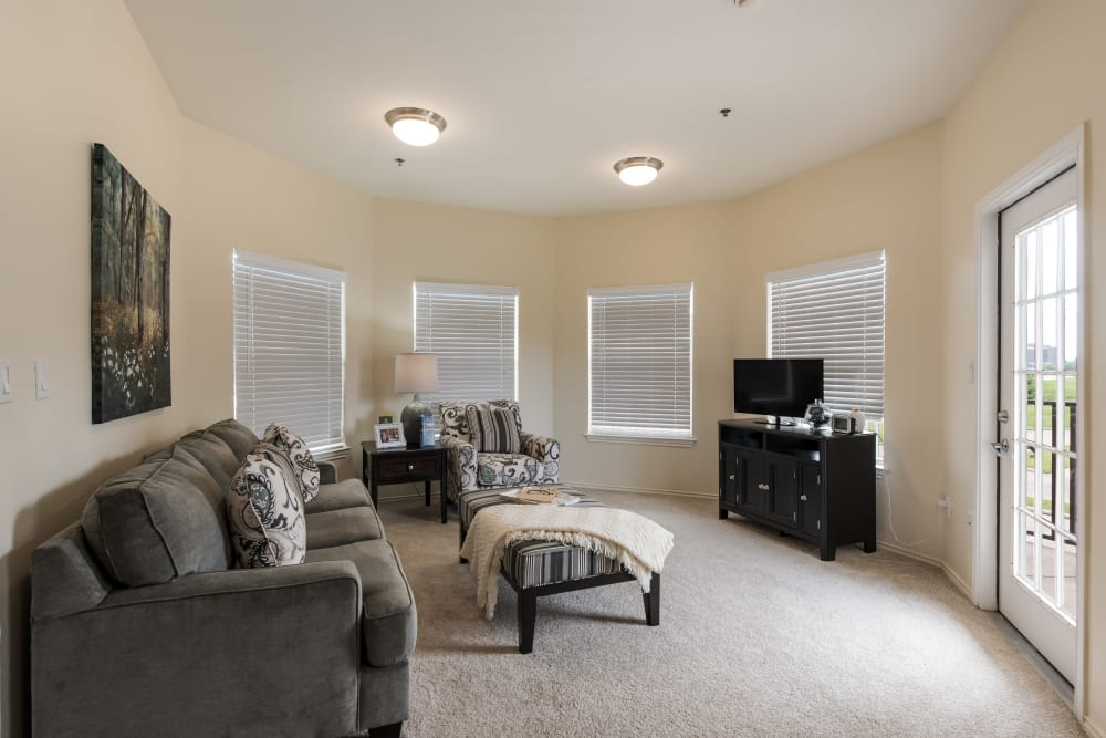 Living room at Waterview Court in Shreveport, Louisiana.