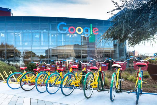 Google campus near Palo Alto Plaza in Mountain View, California