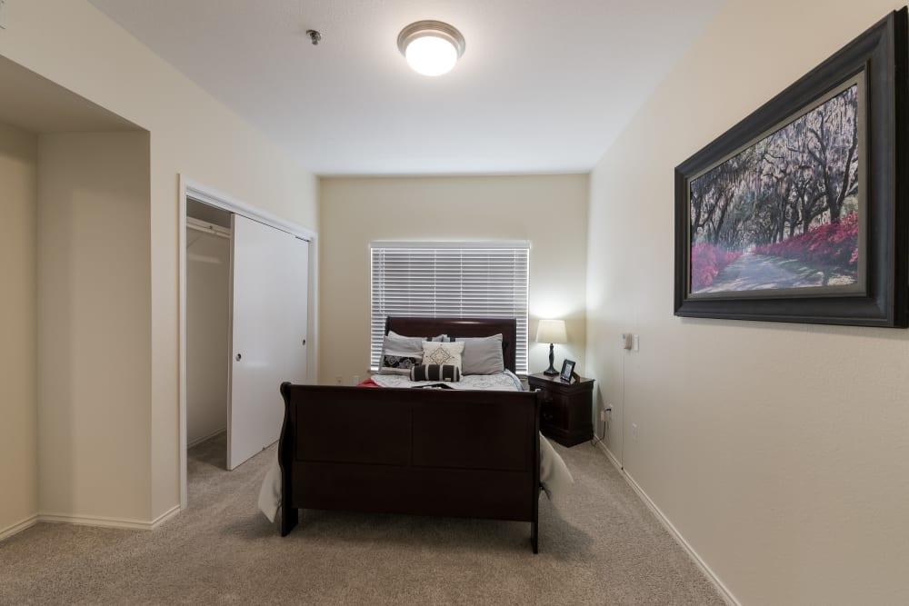 Bedroom at Waterview Court in Shreveport, Louisiana.