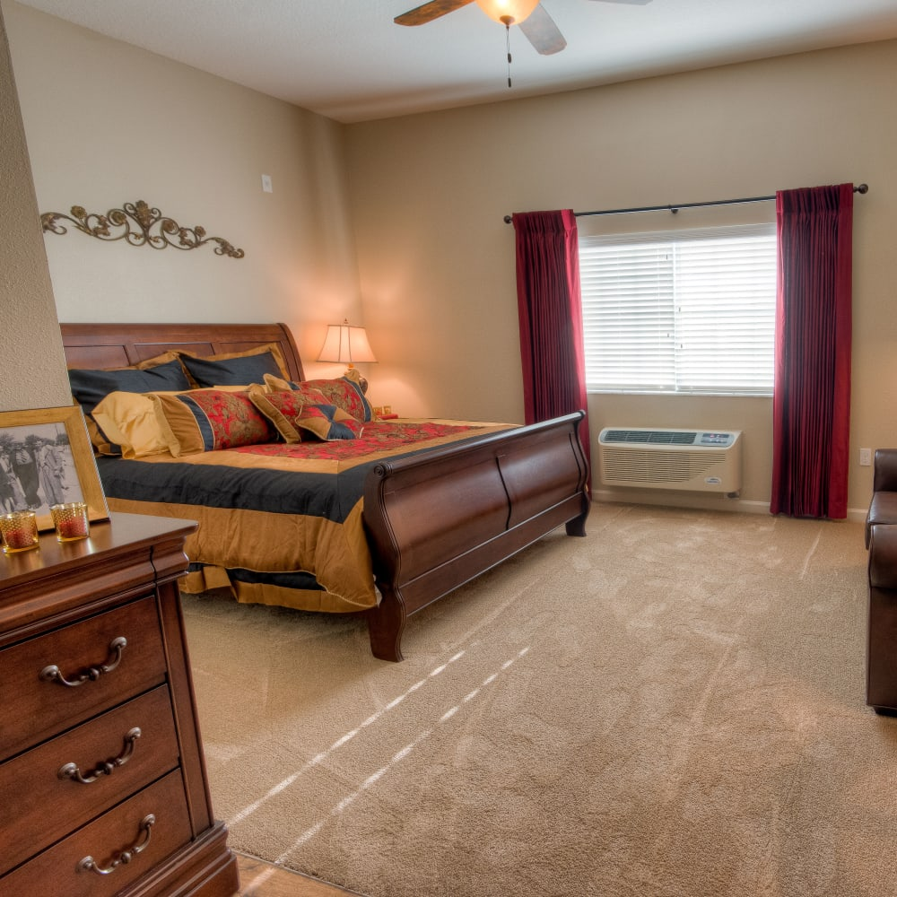 Large resident bedroom at Inspired Living at Ocoee in Ocoee, Florida.