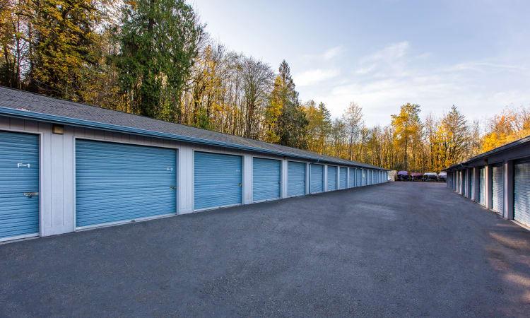 Glacier West Self Storage has clean exterior storage units in Belfair, Washington