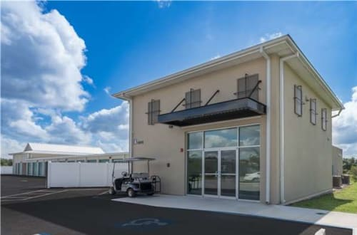Exterior of our front office at Midgard Self Storage in Bradenton, Florida
