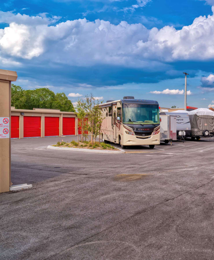 Outdoor storage and RV parking at StorQuest Express - Self Service Storage in Kissimmee, Florida