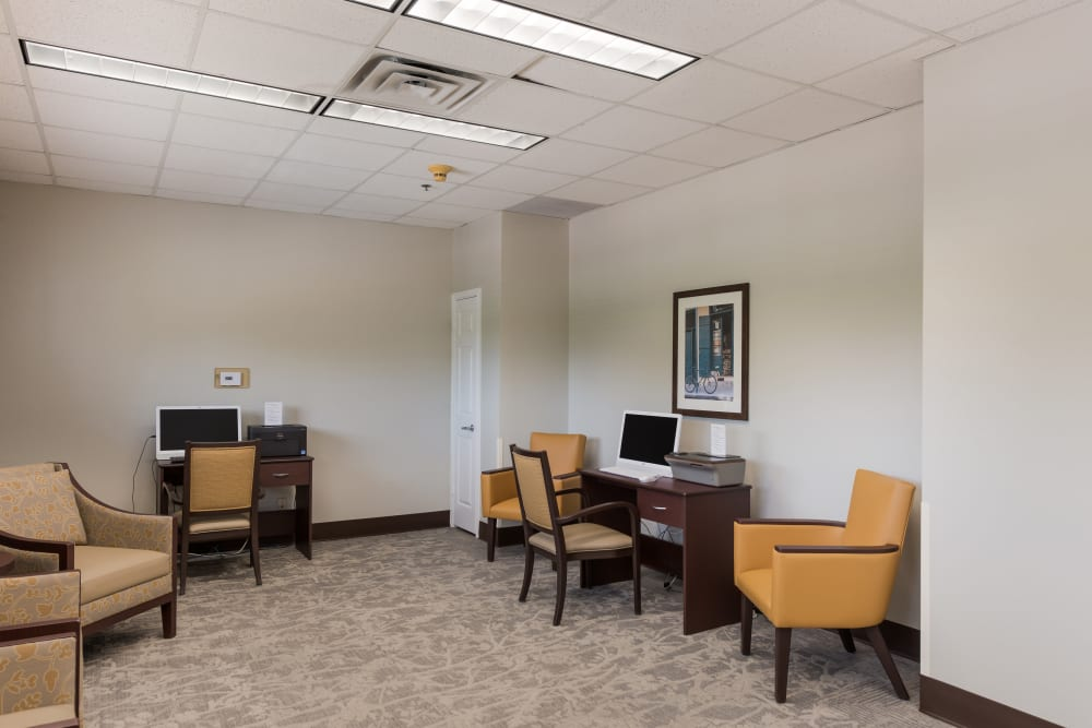 Computer room at Waterview Court in Shreveport, Louisiana