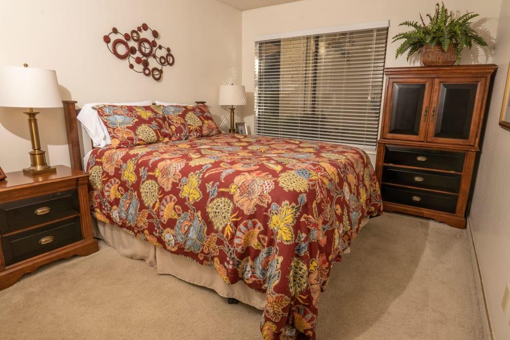 Spacious Bedroom at Campus Commons Senior Living in Sacramento, California