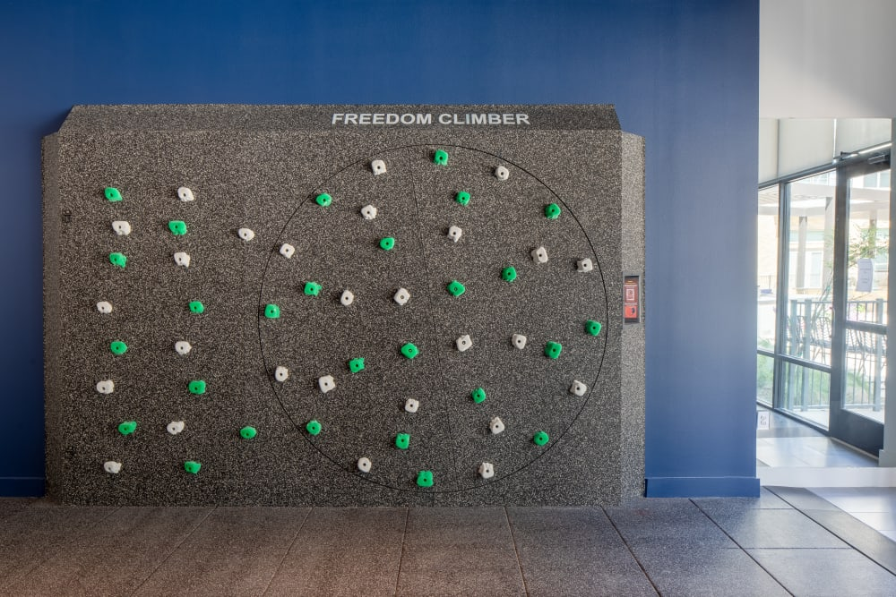 Freedom climbing wall at fitness center at  in San Antonio,TX