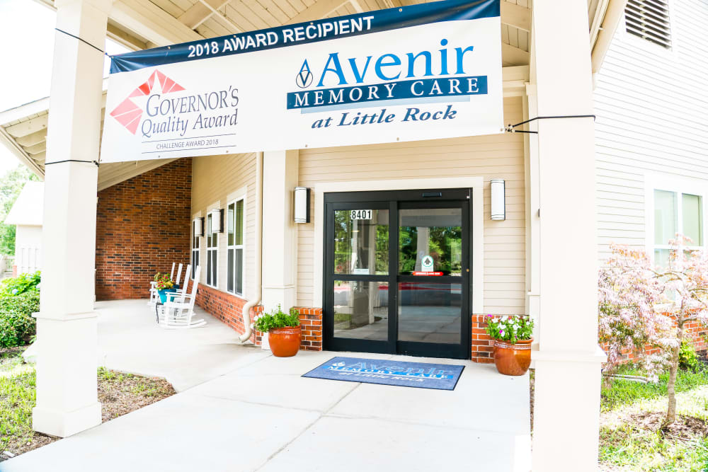 Senior living center entryway in Little Rock, Arkansas