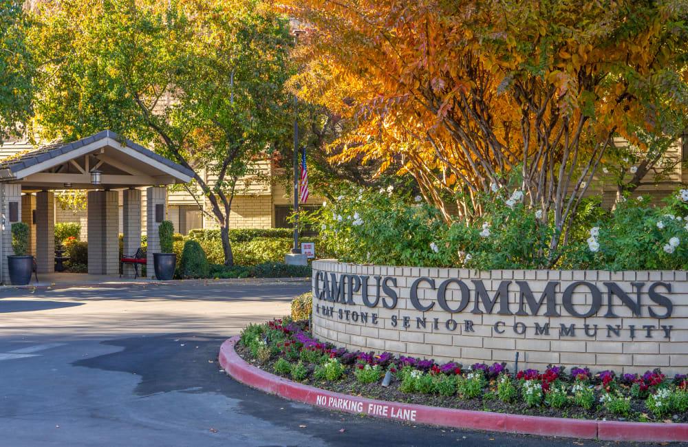 Entrance to Campus Commons Senior Living in Sacramento, California