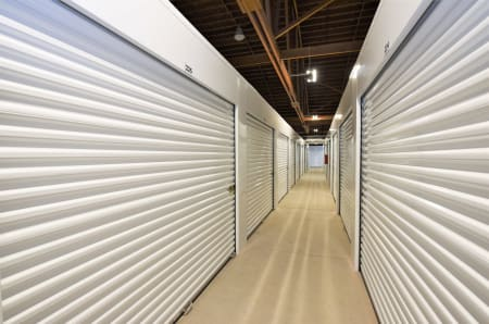 A hallway of units at StorQuest Express - Self Service Storage, CA
