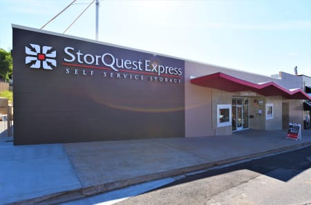 Facility sign at StorQuest Express - Self Service Storage, CA