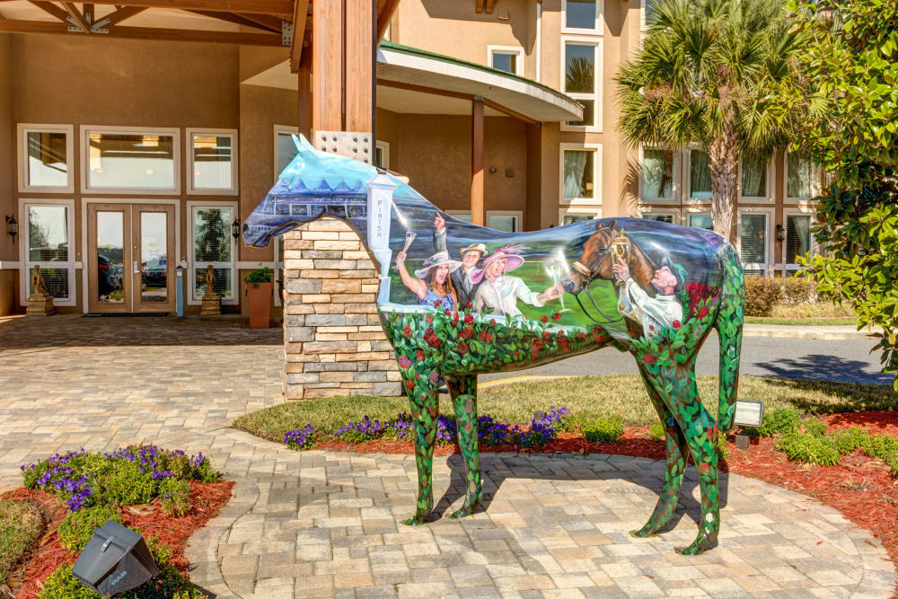 Horse statue at Brentwood at Fore Ranch in Ocala, Florida.