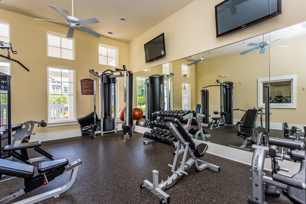 Fitness center at Berkshire Fort Mill in Fort Mill, South Carolina