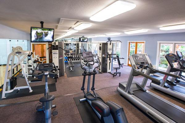 Fitness center at El Lago Apartments