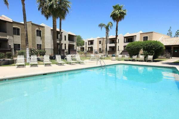 Beautiful swimming pool at The Agave in Tucson, Arizona