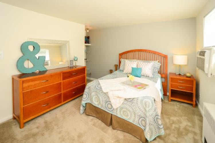 Beautiful bedroom at Wedgewood Hills Apartment Homes in Harrisburg