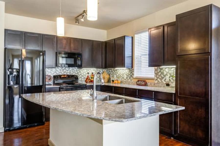Beautiful kitchen at apartments in Fort Worth, Texas